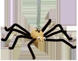 Dřevěné hračky a dekorace Greenkid pro kluky i holky. Dřevěný pavouk na pružině od Abafactory českého výrobce dřevěných hraček.