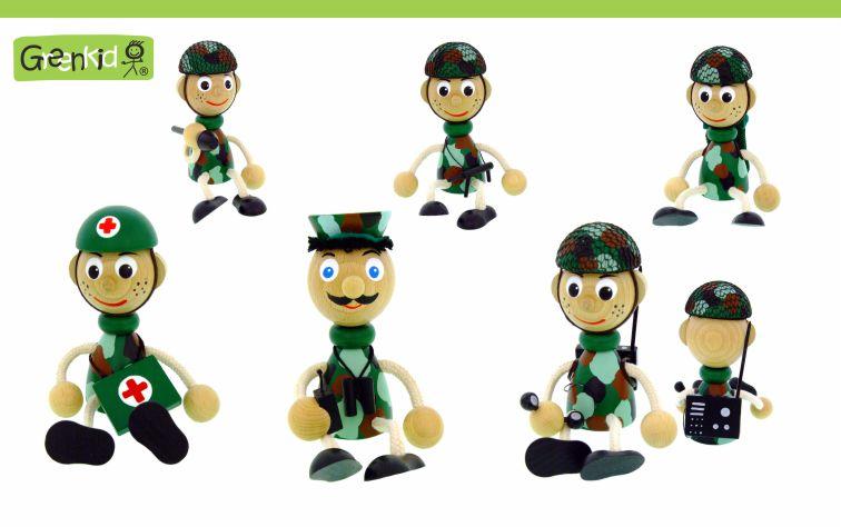 Dřevěné figurky Greenkid pro kluky i holky. Dřevěné figurky vojáků od Abafactory českého výrobce kvalitních dřevěných hraček a dekorací pro děti.