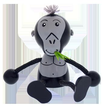 kvalitní dřevěná hračka - opice - gorila - ze dřeva - značky GREENKID vyrobeno v ČR - ne jen pro děti