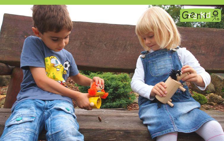 Greenkid dřevěné hračky a dekorace pro děti od jednoho roku. Dřevěné pokladničky Pipi a koník. Česká výroba kvalitních dřevěných hraček Abafactory.