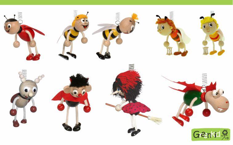 Dekorace pro děti - pohádkové postavy - beruška - čmelák - Vilík - včelka - Mája - brouk - Pytlík - brouček - broučci - čertík - čert - ježibaba na koštěti - čarodějnice na koštěti - dráček - drak.