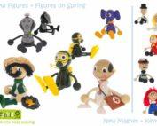nové hračky 2016 od českého výrobce značky GREENKID - dřevěná hračky - doktor, lékař, rybář, potápěč, slon, gorila, ženich, nevěsta, policista, policajt, karkulka, mánička