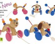 Novinka - tahací hračky do oblouku. Nové tahací hračky kočka a pes od značky GREENKID. Kvalitní, bezpečné a vysoce funkční hračky od českého výrobce ABAfactory. Tahací pejsek a tahací kočička ze dřeva.