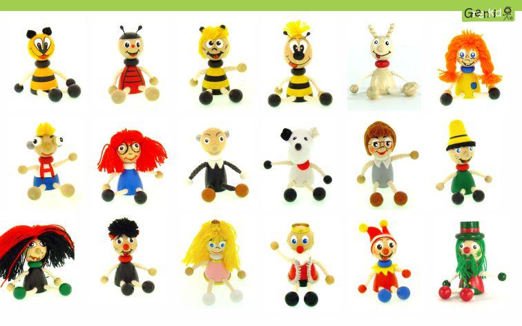 Dřevěné figurky Greenkid. Dřevěná zvířátka a pohádkové postavičky: brouček - včelka - čmelák - hastrman - kašpárek - Pinocchio - Pipi - král - princezna - ježibaba - čert - Mánička - Hurvínek - Spejbl - Žeryk od Abafactory českého výrobce kvalitních dřevěných hraček a dekorací pro kluky i holky.